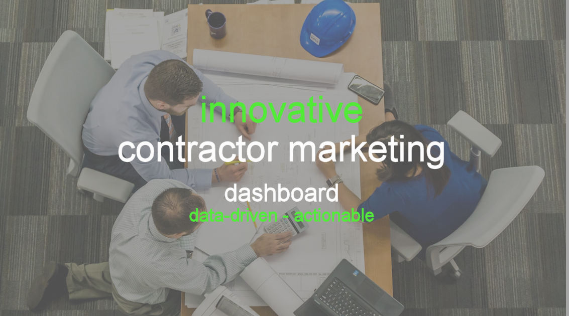 contractor marketing dashboard
